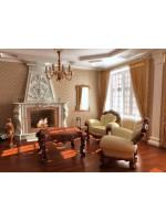 Оригинальная гостиная и сочетание стилей